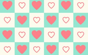 Picture background, vector, texture, squares, hearts