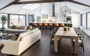 Picture interior, kitchen, living room, dining room, by Lux Decor, Family home