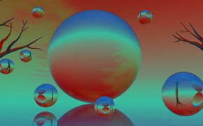 Picture abstraction, background, balls