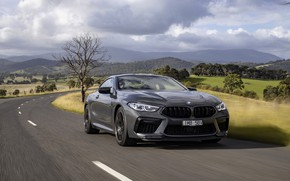 Picture grey, coupe, BMW, on the road, 2020, BMW M8, M8, M8 Competition Coupe, M8 Coupe, …