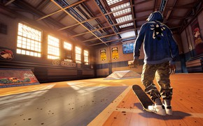 Picture guy, skate, the gym, Tony Hawk Pro Skater
