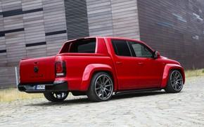 Picture Volkswagen, pickup, Amarok, Red Rock, air suspension, 2019, Werk2, RedRok, Red Amarok