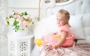 Picture flowers, Girl, photographer Konstantin Burkin