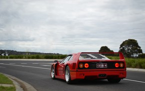 Picture F40, Road, Supercar, Red Car