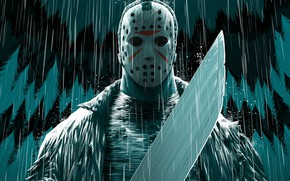 Picture The film, Art, Art, Comic Art, Mask, Machete, Illustration, Horror, Characters, by Jose Real, Jose …