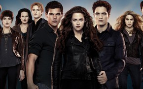Picture family, vampires, characters, The Twilight Saga Dawn, The Twilight Saga Breaking Dawn - Part 2