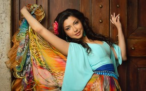 Wallpaper look, pose, skirt, hands, colorful, Gypsy, Adelina, Alexey Nazarov