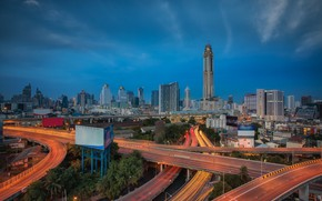 Picture the city, road, Thailand, Bangkok