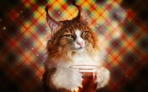 Picture Cat, Cat, Style, Cup, Art, Tea, Art, Style, Cat, Cup, Illustration, Animal, Animal, Tea, Illustration, …