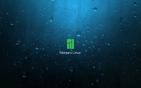 Picture Blue background, Linux, blue background, Manjaro Linux, Manjaro, LINUX, Blue Background
