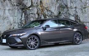 Picture car, machine, Toyota, sedan, drives, side, wheel, Toyota Avalon