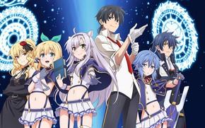 Picture anime, art, characters, Rokudenashi Majutsu Koushi's Akashic Records, Pentagram