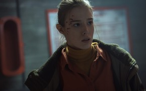 Picture girl, face, blood, actress, jacket, girl, woman, film, actress, still from the film, abrasion, Милена …
