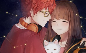 Picture pair, Mystic Messenger, by oretsuu