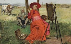 Wallpaper Francois Brunery, Italian artist, The Church in danger, Francois Brunery, The Church is in danger, ...
