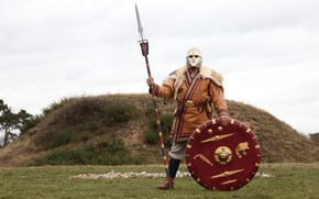 Picture Sword, Warrior, Helmet, Shield, Spear, Sutton Hoo, The Anglo-Saxons, Sutton Hoo, King Raedwald, King Redwald