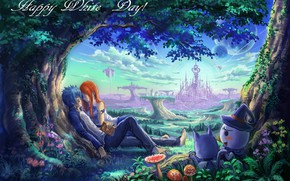 Picture love, pair, Fairy Tail, Gerard, Elsa, Fairy Tail, Happy