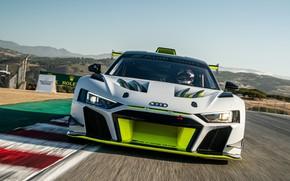 Picture Audi, Speed, Asphalt, Lights, Track, Audi R8, GT2, LMS, 2020, Audi R8 LMS GT2