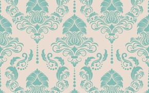 Picture background, blue, texture, ornament, style, vintage, pattern, victorian