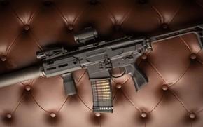 Wallpaper weapons, rifle, weapon, muffler, custom, M16, ar-15, assault rifle, m16, assault Rifle, ar-15, silenser, ar ...