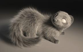 Picture art, pussy, animal, Gabriela Salmeron, Ferret Groom