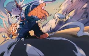 Picture fragments, movement, guy, My Hero Academia, Boku No Hero Academy, Bakugou Katsuki, My Hero Academy, …