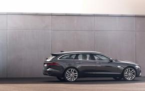 Picture Jaguar, the wall, universal, in profile, Jaguar XF, 2020, XF, XF Sportbrake