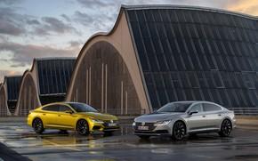 Picture Volkswagen, puddles, 2018, Elegance, R-Line, liftback, 2017, Arteon