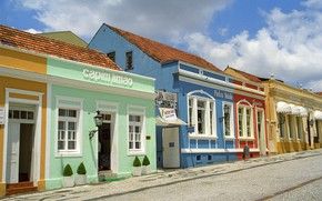 Picture street, home, Brazil, Curitiba
