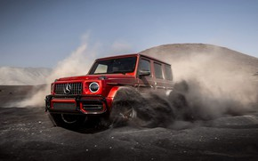 Picture Red, Speed, AMG, Sand, G-Class, G63, Mercedes - Benz, 2019