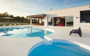 Picture Villa, pool, architecture, terrace, outside-inside house, by Level 52, Villa Barbara