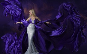 Picture girl, style, background, makeup, dress