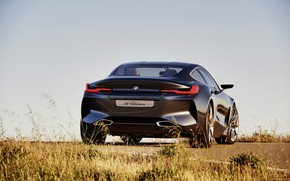 Picture the sky, grass, coupe, BMW, back, 2017, 8-Series Concept