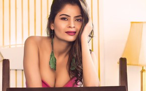 Picture girl, eyes, smile, beautiful, model, lips, face, hair, indian, bollywood, makeup, Gehana vasisth