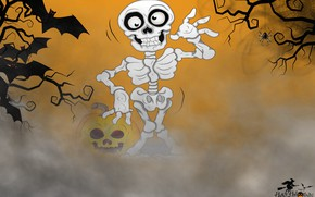 Wallpaper background, skeleton, Halloween