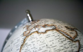 Picture background, question, globe, flat land