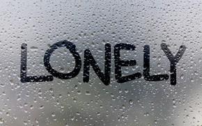 Picture glass, water, drops, rain, window, rain, window, drops, lonely