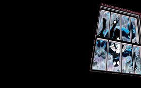 Picture rain, comics, window, venom, spider man, black suit