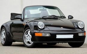 Wallpaper 911, Porsche, Carrera, Turbo, 1990, Cabriolet, 2