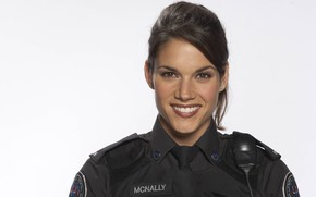 Picture look, pose, smile, the series, hair, Missy Peregrym, Missy Peregrym, Rookie blue, Rookie Blue, Andy …