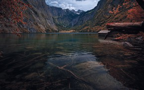 Picture Germany, water, mountain, Bavarian alps