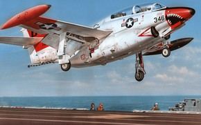 Picture North American, T-2, Buckeye, Naval forces of the United States, training aircraft with a mid-wing