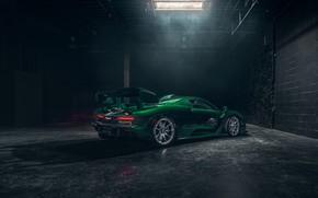 Wallpaper McLaren, supercar, 2018, Senna, MSO, Fux Green