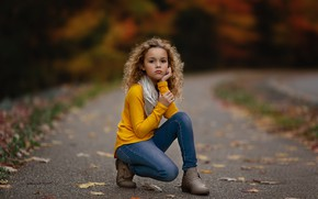 Picture autumn, mood, girl