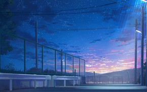 Picture the sky, stars, twilight, Grod