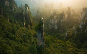 Picture the sky, clouds, mountains, China, China, sky, mountains, clouds, Zhu Xiao