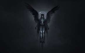 Picture Girl, Angel, Style, Girl, Wings, Darkness, Fantasy, Art, Art, Neville Dsouza, Darkness, Style, Fiction, Fiction, …