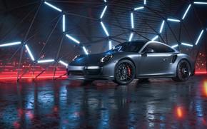 Picture Auto, 911, Porsche, Neon, Machine, Grey, Porsche 911 Turbo, Rendering, Turbo S, Porsche 911 Turbo …