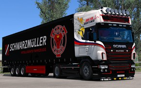 Picture the game, truck, Euro Truck Simulator 2, SCS Software, SCANIA R-580