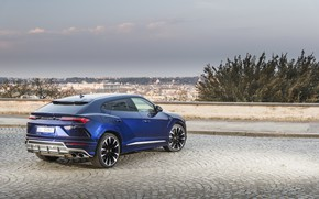 Picture Lamborghini, rear view, 2018, crossover, Urus, ITA